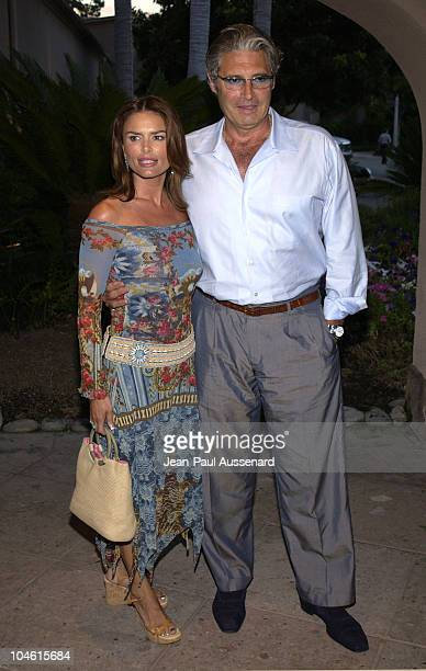 Roma Downey Michael Nouri during CBS Summer 2002 Press Tour Party at Ritz Carlton Hotel in Pasadena California United States