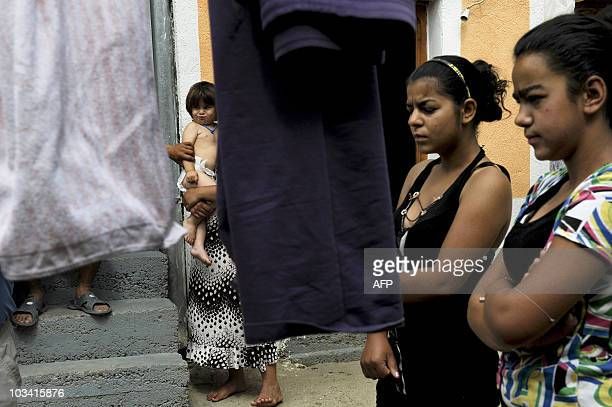 Roma family at their house in the town of Pec on June 19, 2010. For Roma kids expelled by Germany, Kosovo is a nightmare. They arrived in Germany in...