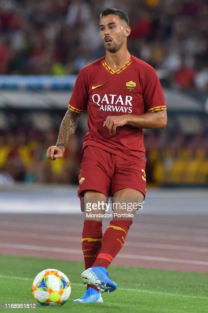 Roma football player Leonardo Spinazzola during the match Roma vs Real Madrid at the Olimpic Stadium Rome August 11th 2019