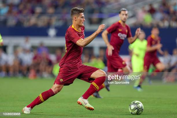 Roma forward Patrik Schick handles the ball during the International Champions Cup between FC Barcelona and AS Roma on July 31 2018 at ATT Stadium in...