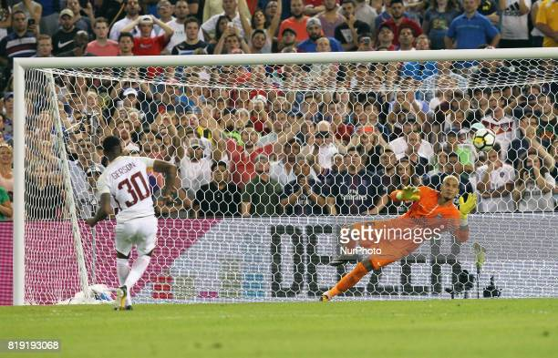 AS Roma Gerson shoot out during penalty kicks to break the tie after the end of regular play during an International Champions Cup match between AS...