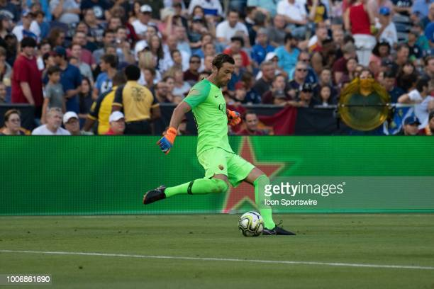 Roma goalkeeper Antonio Mirante during an International Champions Cup match between AS Roma and Tottenham Hotspur FC on July 25 2018 at SDCCU Stadium...