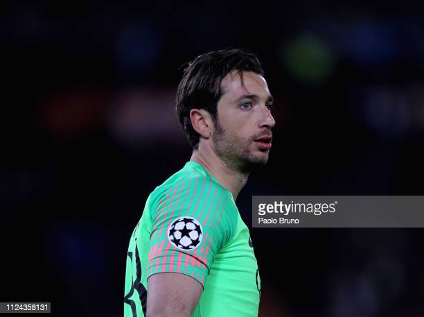 Roma goalkeeper Antonio Mirante looks on during the UEFA Champions League Round of 16 First Leg match between AS Roma and FC Porto at Stadio Olimpico...
