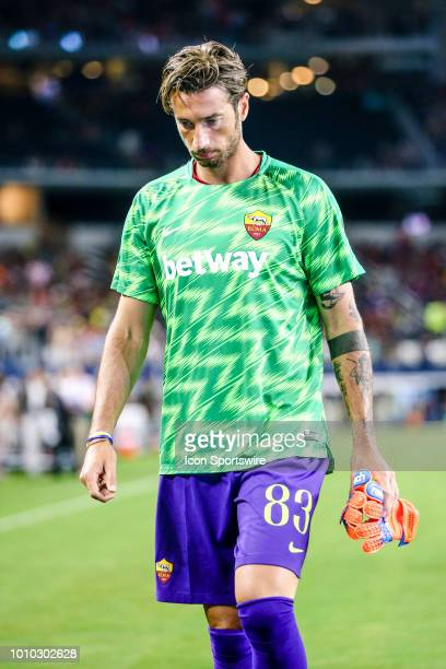 Roma goalkeeper Antonio Mirante walks off the field before the game between FC Barcelona and AS Roma on July 31 2018 at ATT Stadium in Arlington...