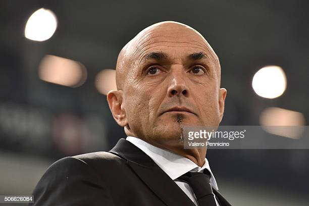 Roma head coach Luciano Spalletti looks on during the Serie A match between Juventus FC and AS Roma at Juventus Arena on January 24 2016 in Turin...