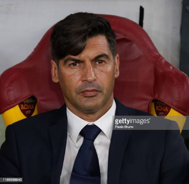 Roma head coach Paulo Fonseca looks on during the UEFA Europa League group J match between AS Roma and Istanbul Basaksehir F.K. At Stadio Olimpico on...