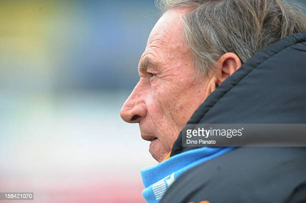 Roma head coach Zdenek Zeman looks on during the Serie A match between AC Chievo Verona and AS Roma at Stadio Marc'Antonio Bentegodi on December 16...