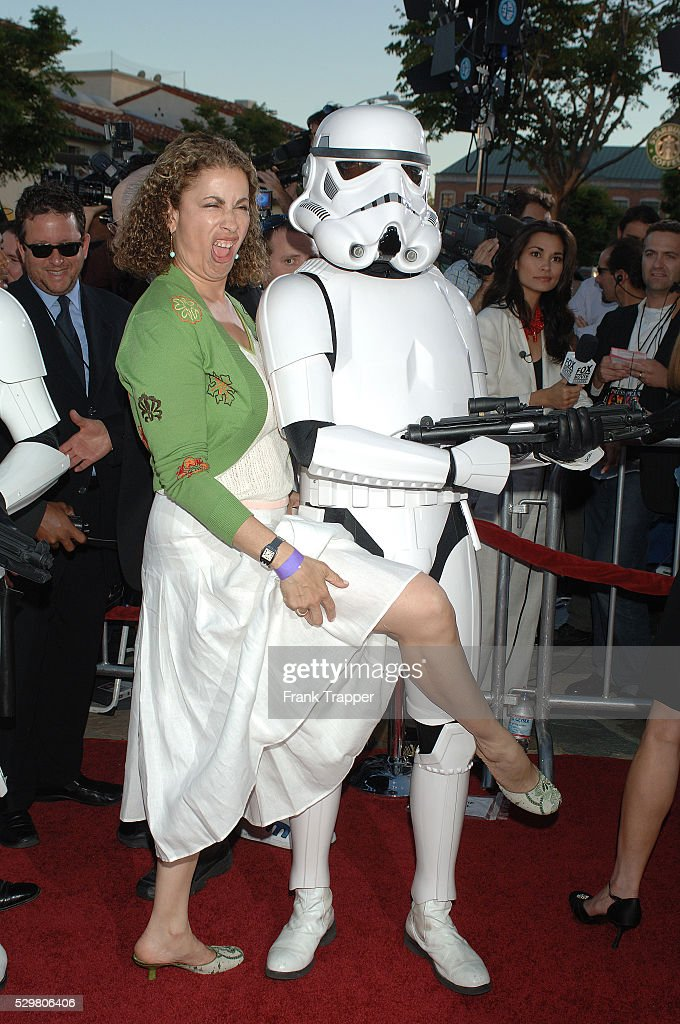 Roma Maffia with a Stormtrooper at the charity premiere of u0027Star Wars Episode III  sc 1 st  Getty Images & Star Wars: Episode III - Revenge of the Sithu0027 Charity Premiere in ...
