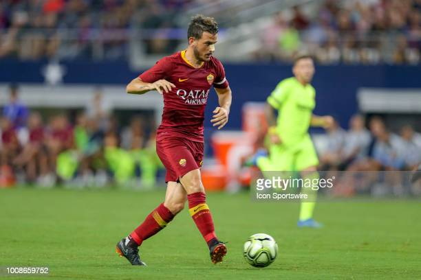 Roma midfielder Alessandro Florenzi scores a goal during the International Champions Cup between FC Barcelona and AS Roma on July 31 2018 at ATT...