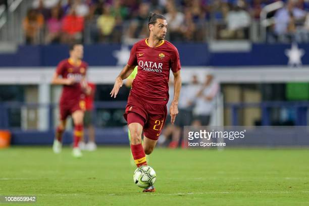 Roma midfielder Javier Pastore brings the ball up the field during the International Champions Cup between FC Barcelona and AS Roma on July 31 2018...