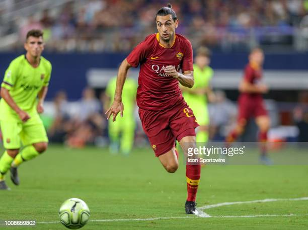 Roma midfielder Javier Pastore chases after a loose ball during the International Champions Cup between FC Barcelona and AS Roma on July 31 2018 at...