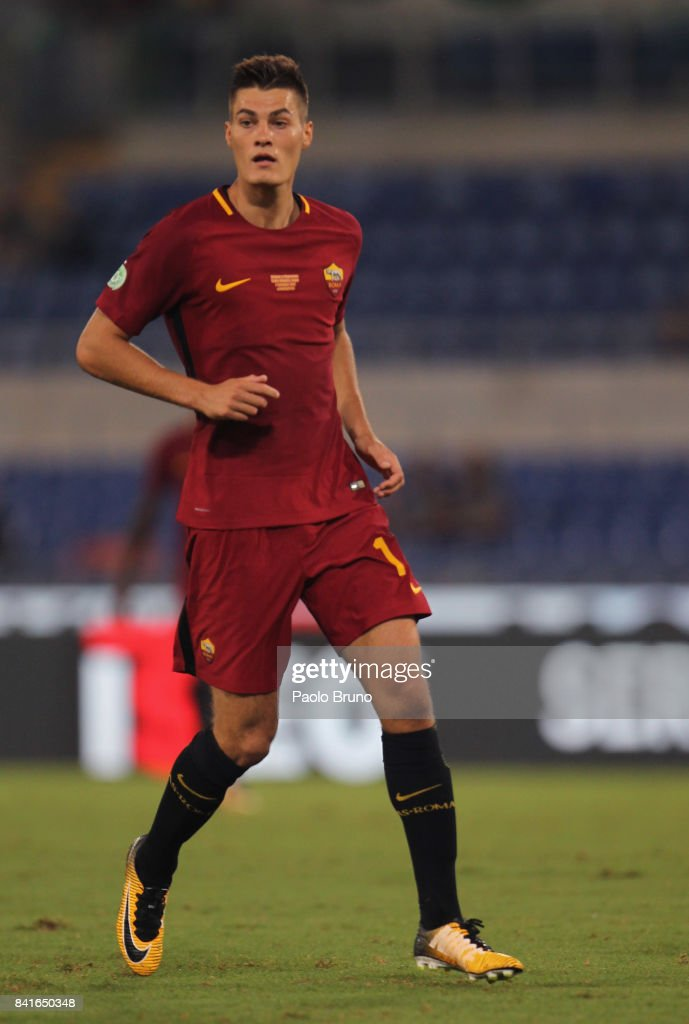 AS Roma new player Patrik Schick in action during the friendly match between AS Roma and Chapecoense at Olimpico Stadium on September 1, 2017 in Rome, Italy.