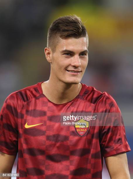 Roma new player Patrik Schick looks on during the friendly match between AS Roma and Chapecoense at Olimpico Stadium on September 1 2017 in Rome Italy