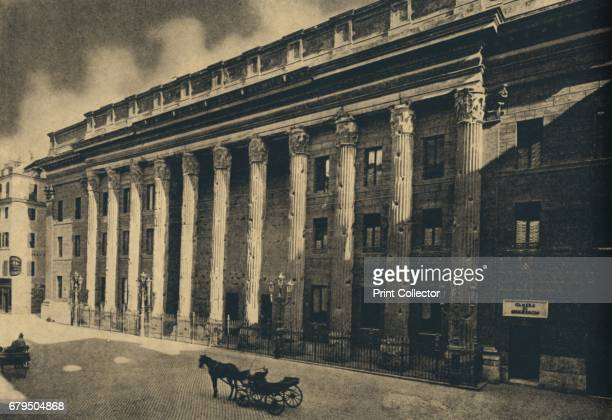 Roma Piazza di Pietra' 1910 Amidst the remains of the Temple of Harian deified is the modern Stock Exchange Temple of Hadrian is a temple to the...