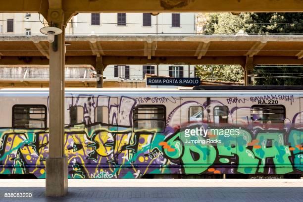 Roma Porta S Paolo Train Station Rome Italy