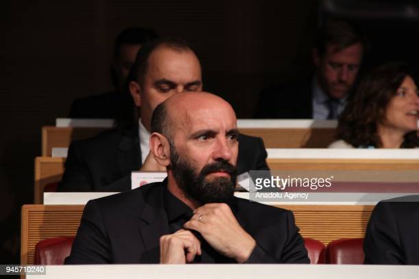Roma Sporting Director Ramon Monchi is seen during the semifinal draw of the UEFA Champions League at the UEFA Headquarters in Nyon Switzerland on...