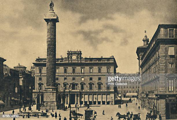 Roma Square and Column of Marcus Aurelius' 1910 Palace of the Portico of Veji On the r Chigi Palace The Column of Marcus Aurelius is a Roman victory...