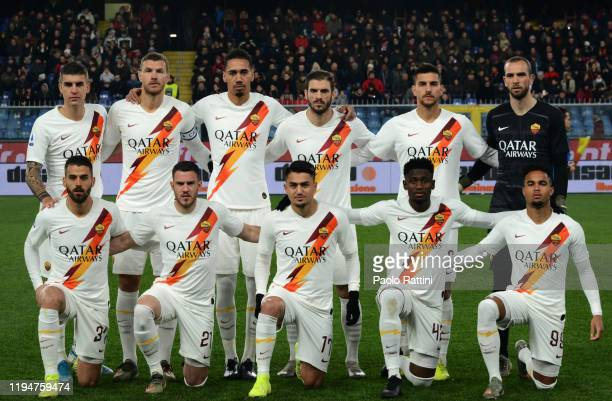 Roma Team for the Serie A match between Genoa CFC and AS Roma at Stadio Luigi Ferraris on January 19 2020 in Genoa Italy