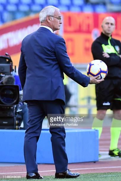 Roma trainer Claudio Ranieri during the match RomaCagliari in the Olimpic stadium Roma April 28th 2019