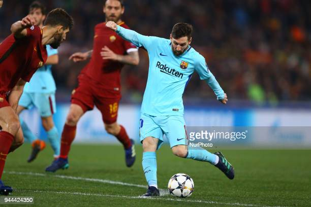 UEFA Champions League quarterfinals 2nd leg Lionel Messi of FC Barcelona at Olimpico Stadium in Rome Italy on April 10 2018