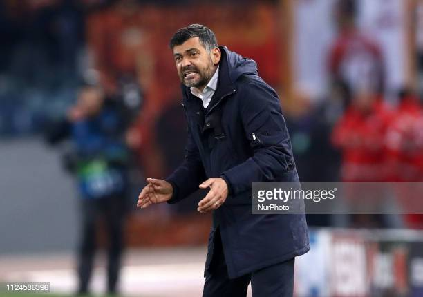 UEFA Champions League Round of 16 Porto manager Sergio Conceicao at Olimpico Stadium in Rome Italy on February 12 2019