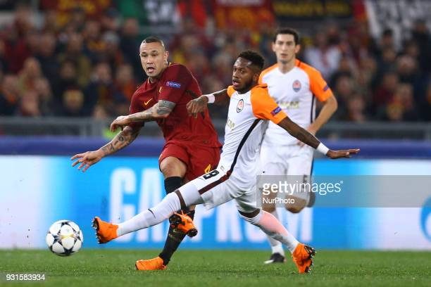 UEFA Champions League Round of 16 Second leg Radja Nainggolan of Roma and Fred of Shakhtar Donetsk at Olimpico Stadium in Rome Italy on March 13 2018