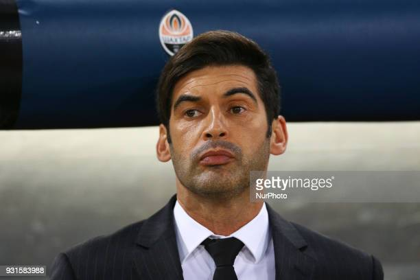 UEFA Champions League Round of 16 Second leg Shakhtar Donetsk manager Paulo Fonseca at Olimpico Stadium in Rome Italy on March 13 2018
