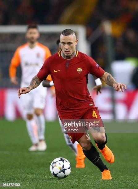 UEFA Champions League Round of 16 Second leg Radja Nainggolan of Roma at Olimpico Stadium in Rome Italy on March 13 2018