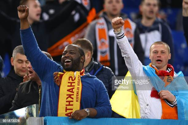 UEFA Champions League Round of 16 Second leg Shakhtar supporters at Olimpico Stadium in Rome Italy on March 13 2018