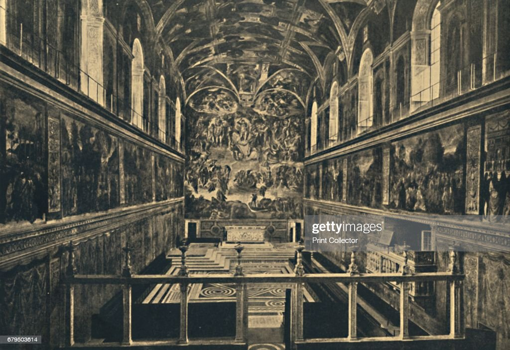 Roma - Vatican Palace - The Sistine Chapel Fonded By Sixtus Iv In 1483 1910 : News Photo