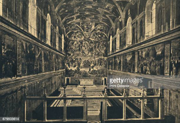 Roma Vatican Palace The Sistine Chapel fonded by Sixtus IV in 1483' 1910 The fame of the Sistine Chapel lies mainly in the frescos that decorate the...