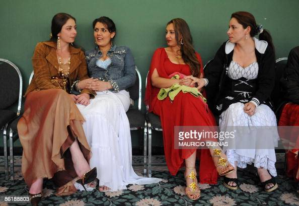 Roma Women Chat During The Celebrations Of The Day Of Language On