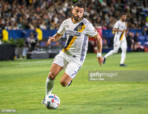 Romain Alessandrini of Los Angeles Galaxy during Los Angeles Galaxy's match against Philadelphia Union at the StubHub Center on April 29 2017 in...