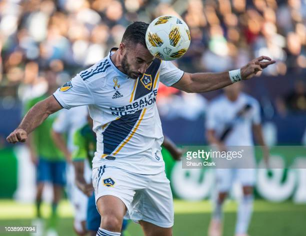 Romain Alessandrini of Los Angeles Galaxy during the Los Angeles Galaxy's MLS match against Seattle Sounders at the StubHub Center on September 23...
