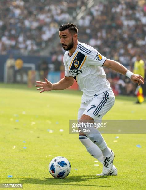 Romain Alessandrini of Los Angeles Galaxy during the Los Angeles Galaxy's MLS match against Houston Dynamo at the StubHub Center on October 28 2018...