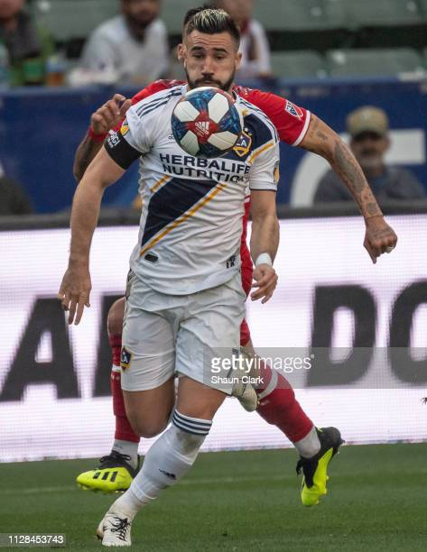 Romain Alessandrini of Los Angeles Galaxy during the Los Angeles Galaxy's MLS match against Chicago Fire at the Dignity Health Sports Park on March 2...