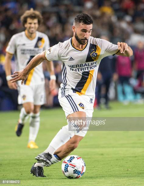 Romain Alessandrini of Los Angeles Galaxy during the Los Angeles Galaxy's MLS match against Vancouver Whitecaps at the StubHub Center on July 19 2017...