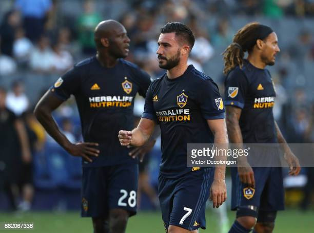Romain Alessandrini of Los Angeles Galaxy walks off the field after the first half of the MLS game against the Minnesota United FC at StubHub Center...