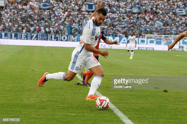 Romain Alessandrini of Olympique de Marseille FC during the French Ligue 1 between Olympique de Marseille FC and Montpellier Herault FC at Stade...