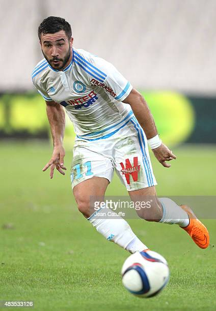 Romain Alessandrini of OM in action during the French Ligue 1 match between Olympique de Marseille and SM Caen at Stade Velodrome on August 8 2015 in...