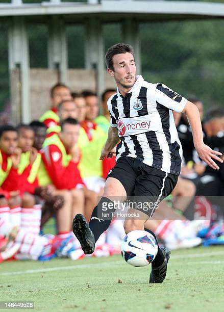 Romain Amalfitano of Newcastle United during a pre season friendly match between Newcastle United and AS Monaco at the HackerPschorr Sports Park on...