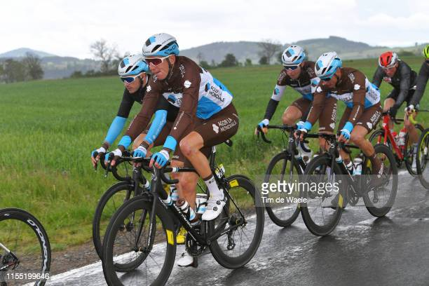 Romain Bardet of France and Team AG2R La Mondiale / Alexis Gougeard of France and Team AG2R La Mondiale / Clément Venturini of France and Team AG2R...