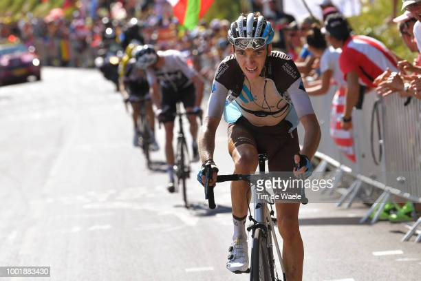 Romain Bardet of France and Team AG2R La Mondiale / Alpe d'Huez / Fans / Public / during the 105th Tour de France 2018, Stage 12 a 175,5km stage from...