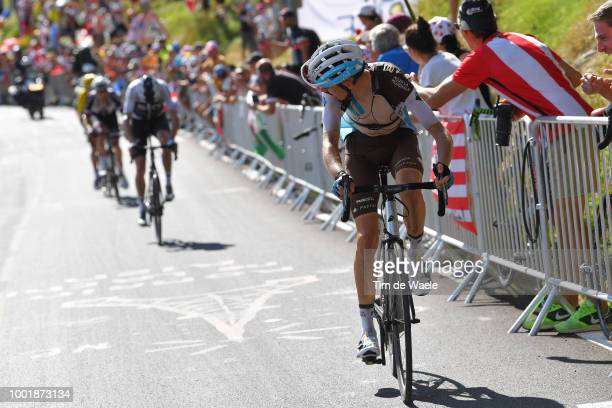 Romain Bardet of France and Team AG2R La Mondiale / Christopher Froome of Great Britain and Team Sky / Alpe d'Huez / Fans / Public / during the 105th...