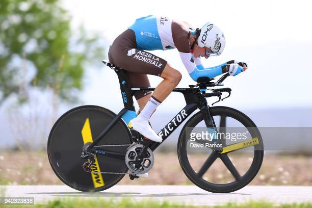 Romain Bardet of France and Team AG2R La Mondiale / during the 58th Vuelta Pais Vasco 2018 Stage 4 a 194km individual time trial stage from Lodosa to...