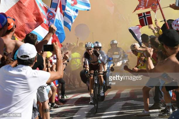 Romain Bardet of France and Team AG2R La Mondiale / Fans / Public / during the 105th Tour de France 2018 Stage 12 a 1755km stage from...