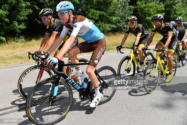 Romain Bardet of France and Team AG2R La Mondiale / Sylvain Chavanel of France and Team Direct Energie / Fabien Grellier of France and Team Direct...