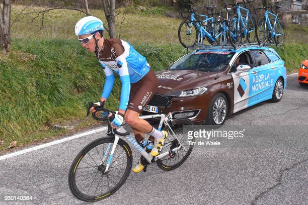 Romain Bardet of France / Car / Team AG2R La Mondiale of France /during the 53rd TirrenoAdriatico 2018 Stage 4 a 219km stage from Follonica to...