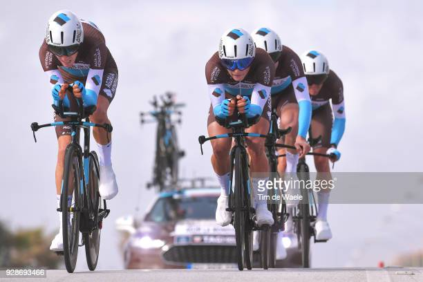 Romain Bardet of France / Clement Venturini of France / Team AG2R La Mondiale of France/ during the 53rd TirrenoAdriatico 2018 / Stage 1 Team Time...