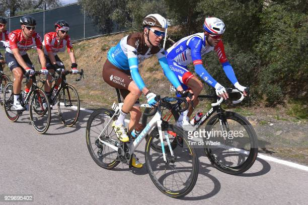 Romain Bardet of France during the 53rd TirrenoAdriatico 2018 Stage 3 a 239km stage from Follonica to Trevi 425m on March 9 2018 in Trevi Italy